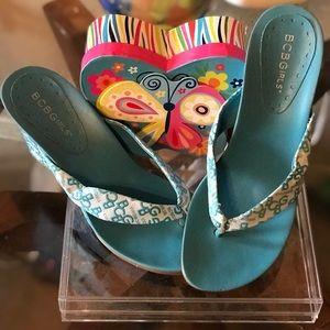 Wedged Thong BCBG Sandals